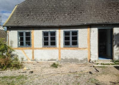 Renovering af bindingsværkshus