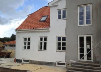 Et renoveret hus tager form